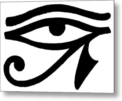 Egyptian Symbol Wedjat Metal Print by Granger