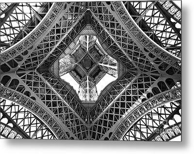 Eiffel Abstract Metal Print