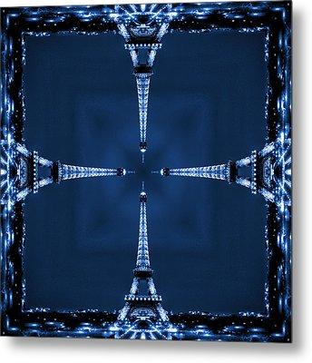 Eiffel Art 27 Metal Print
