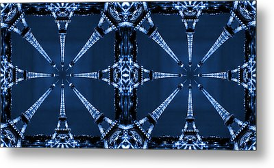 Eiffel Art 32a Metal Print by Mike McGlothlen
