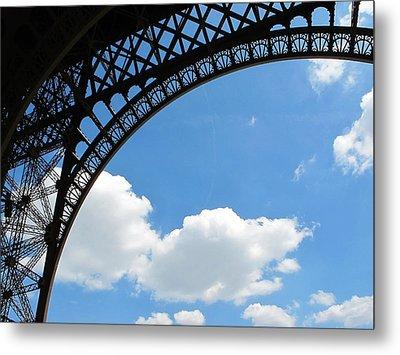 Eiffel Clouds Metal Print by Kathy Corday