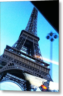 Eiffel In Motion Metal Print by Kathy Corday