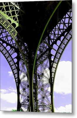 Eiffel Lace Metal Print by Kathy Corday