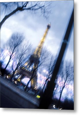 Eiffel On The Move Metal Print by Mike McGlothlen