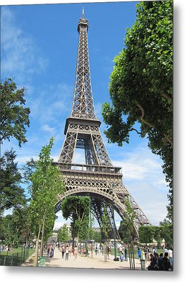Metal Print featuring the photograph Eiffel Tower - 1 by Pema Hou