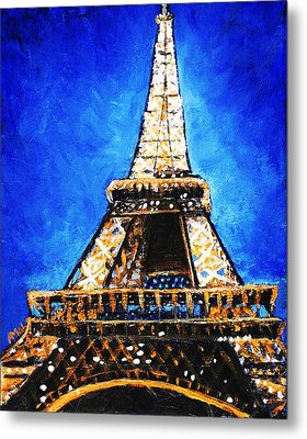 Eiffel Tower Metal Print by Anastasiya Malakhova