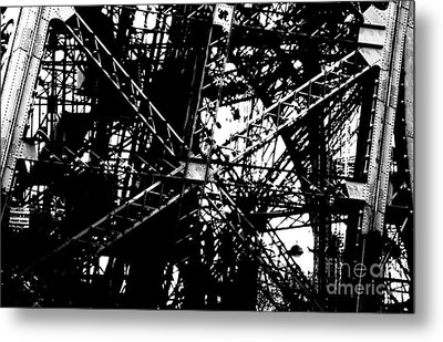 Metal Print featuring the photograph Eiffel Tower Detail  by Joey Agbayani