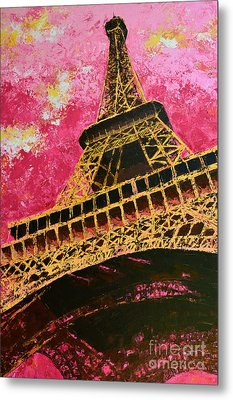 Eiffel Tower Iconic Structure Metal Print