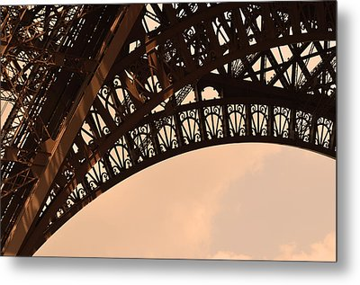 Eiffel Tower Paris France Arc Metal Print by Patricia Awapara