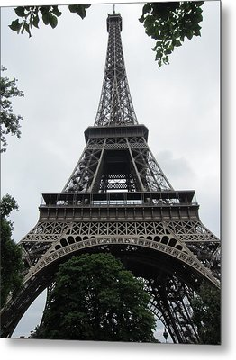 Metal Print featuring the photograph Eiffel Tower by Pema Hou