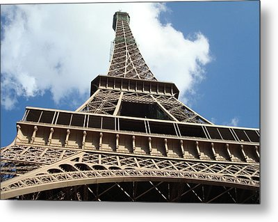 Metal Print featuring the photograph Eiffel Tower Perspective by Kay Gilley