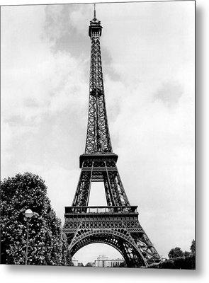 Eiffel Tower Reaches Upward. Metal Print