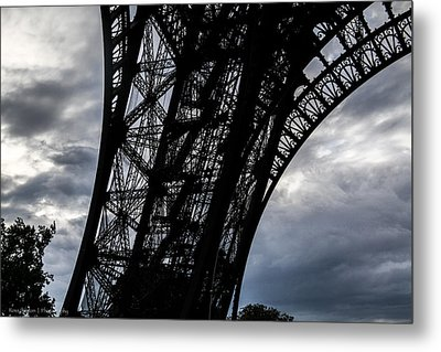 Metal Print featuring the photograph Eiffel Tower Storm by Ross Henton