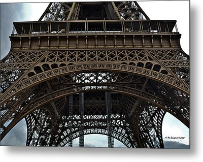 Metal Print featuring the photograph Eiffel Tower - The Forgotten Names by Allen Sheffield