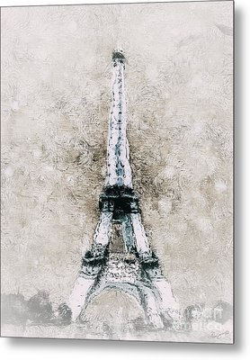 Eiffel Tower Wall Art Metal Print by Shanina Conway