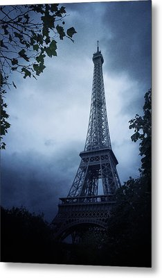 Eiffel Tower Metal Print by Cambion Art