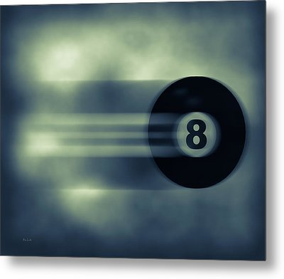 Eight Ball In Motion Metal Print by Bob Orsillo