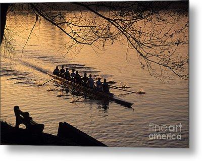 Eight Man Crew Rowing Along Montlake Cut  Metal Print