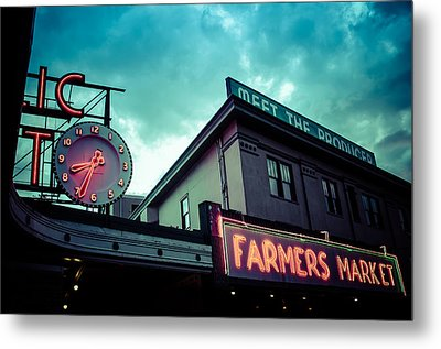 Eight Thirty Four At The Farmers Market Metal Print by Brian Xavier