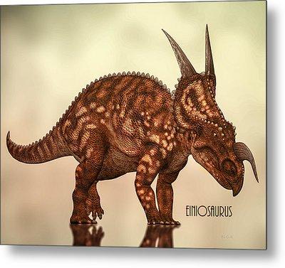 Metal Print featuring the photograph Einiosaurus by Bob Orsillo