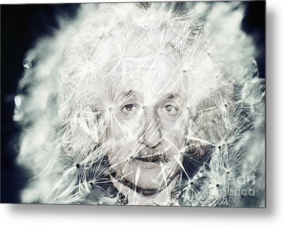 Einstein Dandy Metal Print