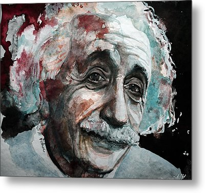 Einstein  Metal Print by Laur Iduc