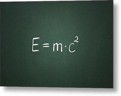 Einsteins Formula Metal Print by Chevy Fleet