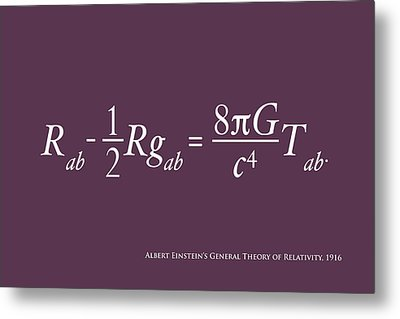 Einstein's Theory Of Relativity Metal Print by Michael Tompsett