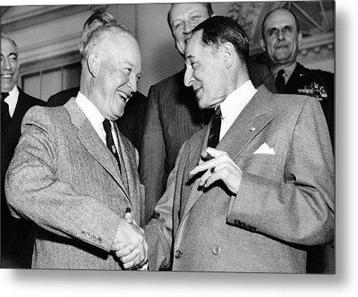 Eisenhower And Macarthur Metal Print