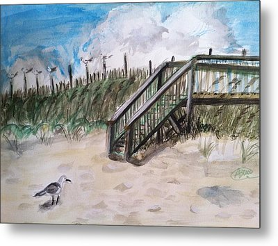 Ejoying The View  Metal Print by Asuncion Purnell