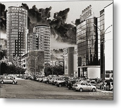 Metal Print featuring the pyrography Ekaterinburg by Evgeniy Lankin
