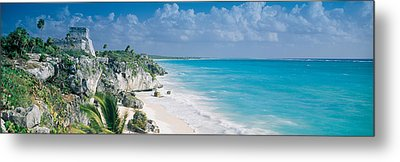El Castillo, Quintana Roo Caribbean Metal Print by Panoramic Images