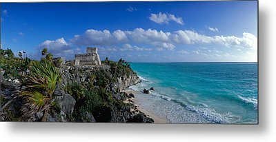 El Castillo Tulum Mexico Metal Print by Panoramic Images