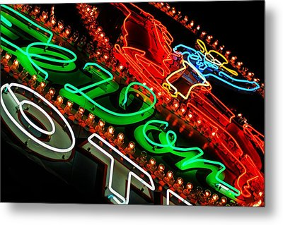 Metal Print featuring the photograph El Don Neon by Daniel Woodrum