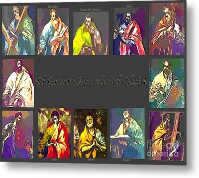 El Greco's Apostles Of Christ Metal Print by Barbara Griffin