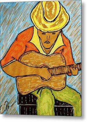 Metal Print featuring the drawing El Jibarito by Chrissy  Pena