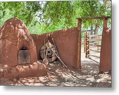 Metal Print featuring the photograph El Rancho De Las Golondrinas by Roselynne Broussard