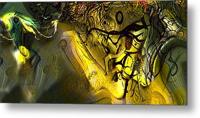 Metal Print featuring the digital art Elaboration Of Day Into Dream by Richard Thomas