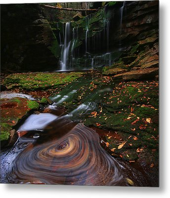 Metal Print featuring the photograph Elakala Falls by Jaki Miller
