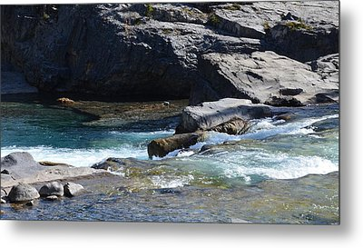 Elbow Falls Landscape Metal Print by Cheryl Miller