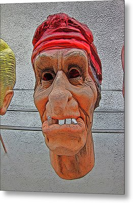 Elderly Woman Behind The Counter In A Small Town  Metal Print by Andy Za