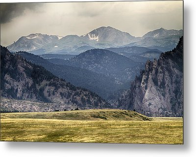 Eldorado Canyon And Continental Divide Above Metal Print by James BO  Insogna