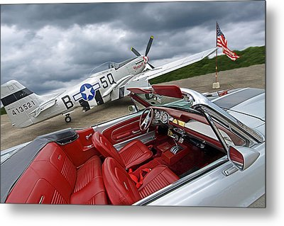 Eleanor Cockpit With P51 Mustang Metal Print by Gill Billington