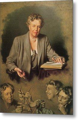 Eleanor Roosevelt, First Lady Metal Print