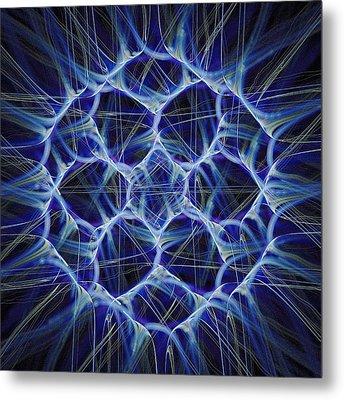Electric Blue Metal Print by Anastasiya Malakhova