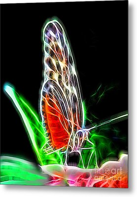 Electric Butterfly Metal Print