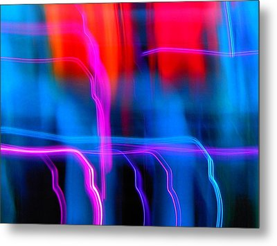 Electric Dance Metal Print