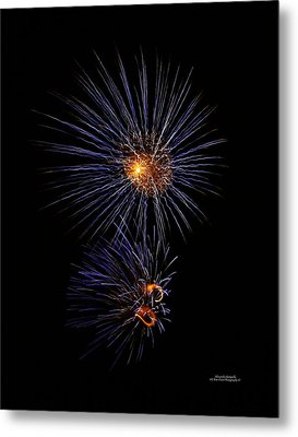 Electric Fire Ball Metal Print by Alexandra  Rampolla