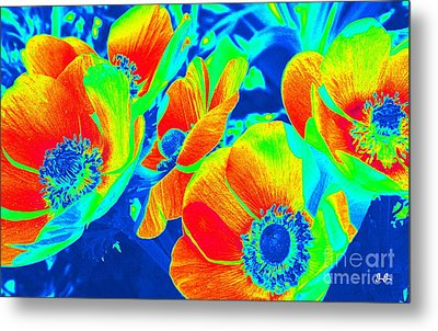 Electric Floral Metal Print