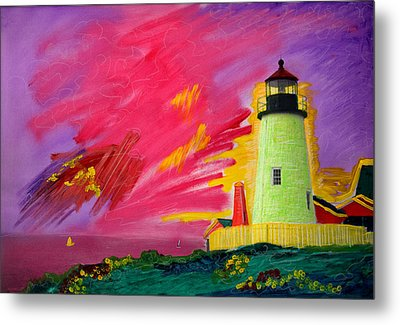 Electric Lighthouse Metal Print